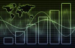 Priorità bassa astratta del sistema economico illustrazione vettoriale