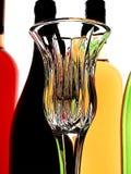 Priorità bassa astratta del vino Fotografie Stock Libere da Diritti