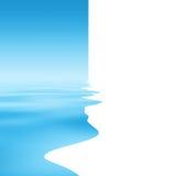 Priorità bassa astratta dell'acqua illustrazione vettoriale