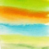 Priorità bassa astratta dell'acquerello Fondo variopinto fresco con un'atmosfera della molla Immagini Stock Libere da Diritti