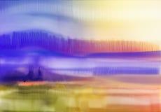 Priorità bassa astratta dell'acquerello Paesaggio astratto semi- della pittura dell'acquerello illustrazione vettoriale