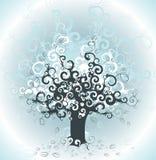 Priorità bassa astratta dell'albero Fotografia Stock