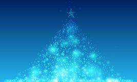Priorità bassa astratta dell'albero di Natale Fotografia Stock