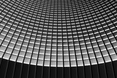 Priorità bassa astratta dell'alluminio delle mattonelle della curva Fotografia Stock Libera da Diritti