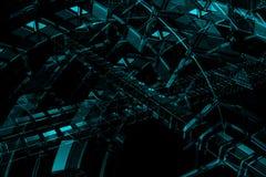 Priorità bassa astratta dell'azzurro 3D Fotografia Stock Libera da Diritti