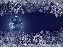 Priorità bassa astratta dell'azzurro di inverno Fotografia Stock Libera da Diritti