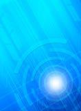 Priorità bassa astratta dell'azzurro di tecnologia. Immagine Stock