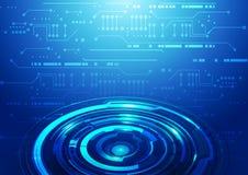 Priorità bassa astratta dell'azzurro di tecnologia Immagine Stock Libera da Diritti