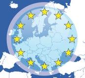 Priorità bassa astratta dell'Europa Immagini Stock Libere da Diritti
