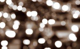 Priorità bassa astratta dell'indicatore luminoso di notte della città Immagini Stock Libere da Diritti
