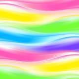 Priorità bassa astratta dell'onda del Rainbow Immagini Stock Libere da Diritti