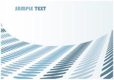 Priorità bassa astratta dell'onda della sfortuna con copyspace in bianco illustrazione di stock