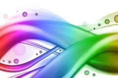Priorità bassa astratta dell'onda di turbinio del Rainbow Immagine Stock