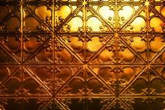 Priorità bassa astratta dell'oro Fotografia Stock Libera da Diritti