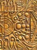 Priorità bassa astratta dell'oro con il disegno mystical Fotografie Stock Libere da Diritti
