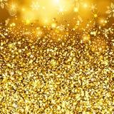 Priorità bassa astratta dell'oro Zecchini scintillanti dorati Invito del modello di progettazione stabilita, festa, nozze, nuovo  Fotografia Stock