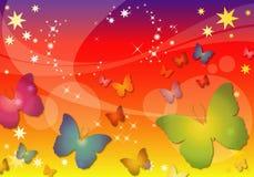 Priorità bassa astratta della farfalla Fotografie Stock