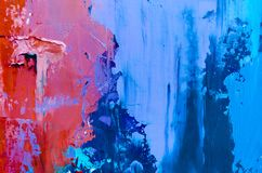 Priorità bassa astratta della pittura a olio Olio su struttura della tela Disegnato a mano immagine stock