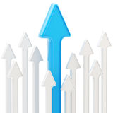Priorità bassa astratta delle frecce lucide su bianco Fotografia Stock Libera da Diritti