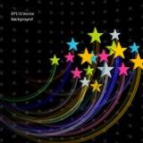 Priorità bassa astratta delle stelle Fotografia Stock Libera da Diritti