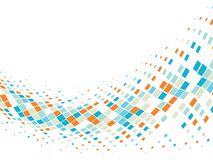 Priorità bassa astratta di affari con le mattonelle di mosaico Immagine Stock