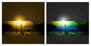 Priorità bassa astratta di affari di alta tecnologia Fotografie Stock