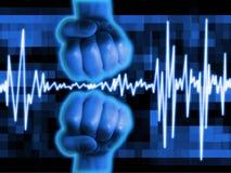 Priorità bassa astratta di battito cardiaco Fotografie Stock Libere da Diritti