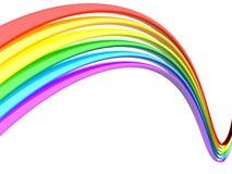 Priorità bassa astratta di bianco del Rainbow Immagini Stock
