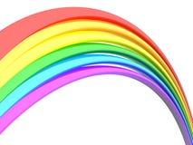 Priorità bassa astratta di bianco del Rainbow Immagine Stock Libera da Diritti