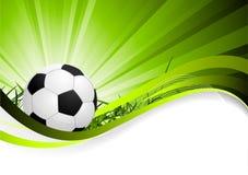 Priorità bassa astratta di calcio Fotografia Stock