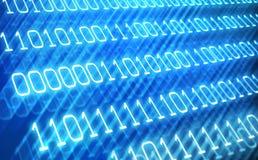 Priorità bassa astratta di codice binario Immagini Stock