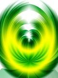 Priorità bassa astratta di colore giallo di verde di turbinio Fotografia Stock