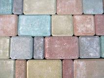Priorità bassa astratta di diversità della pietra di colore, Fotografie Stock