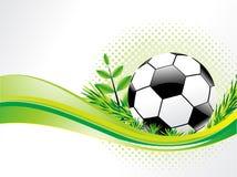 Priorità bassa astratta di eco con gioco del calcio Immagine Stock