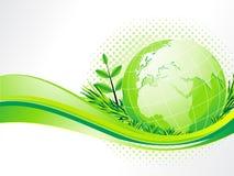 Priorità bassa astratta di eco con il globo Fotografie Stock Libere da Diritti