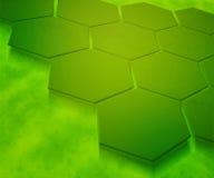 Priorità bassa astratta di esagoni verdi illustrazione vettoriale