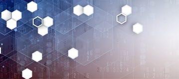 Priorità bassa astratta di esagono Progettazione poligonale di tecnologia Digita Immagini Stock Libere da Diritti