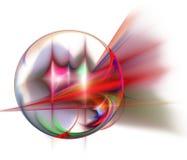 Priorità bassa astratta di frattalo Cerchio, sfera Fotografia Stock