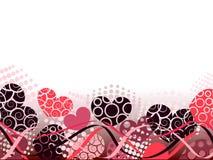Priorità bassa astratta di giorno dei biglietti di S. Valentino con i cuori. Fotografia Stock Libera da Diritti