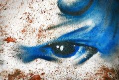 Priorità bassa astratta di graffity Fotografie Stock