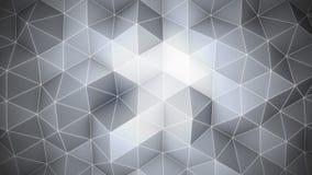 Priorità bassa astratta di grey 3d Superficie poligonale Fotografia Stock Libera da Diritti