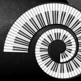 Priorità bassa astratta di Grunge con i tasti del piano Fotografie Stock Libere da Diritti
