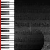 Priorità bassa astratta di Grunge con i tasti del piano Fotografia Stock