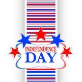 Priorità bassa astratta di indipendenza degli S.U.A. Fotografia Stock Libera da Diritti