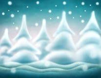 Priorità bassa astratta di inverno Fotografia Stock Libera da Diritti