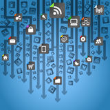 Priorità bassa astratta di media sociali moderni Immagini Stock Libere da Diritti