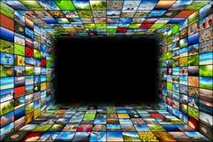 Priorità bassa astratta di multimedia Fotografie Stock Libere da Diritti