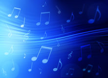 Priorità bassa astratta di musica Immagine Stock