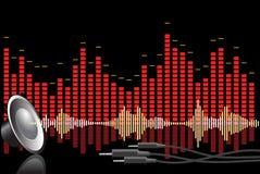 Priorità bassa astratta di musica Fotografie Stock