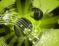 Priorità bassa astratta di musica Immagini Stock